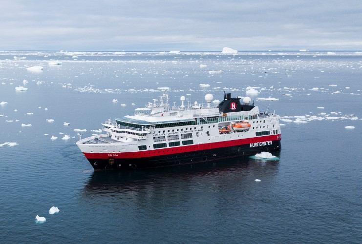 MS Fram in Greenland